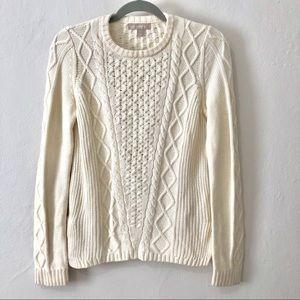 Banana Republic chunky cableknit fisherman sweater